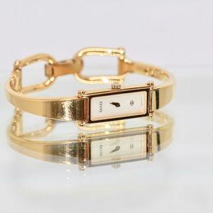 My Gold Plated Gucci Horsebit Bangle Watch